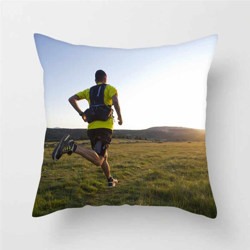 Fuwatacchi الركض الرياضة نمط وسادة غطاء سليم الجمال شروق الشمس Oceanside غطاء وسادة مطبوعة غطاء وسائد زخرفية لسيارة أريكة