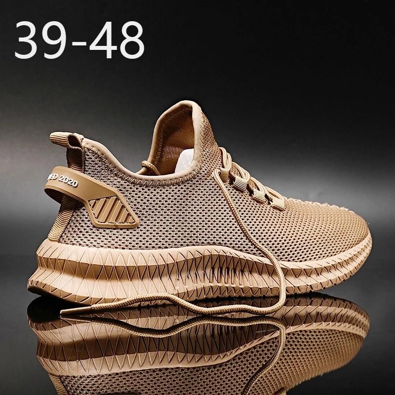 Для мужчин повседневная обувь Новые дышащие однотонные Цвет на шнуровке мужские кроссовки Для мужчин нескользящие легкие спортивные дикий...