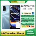 Глобальная версия Realme 7 Pro 8 ГБ 128 смартфонами Snapdragon 720G 6,4 дюймов AMOLED Экран 64-мегапиксельная четырехъядерная камера 65 Вт SuperDart зарядка NFC