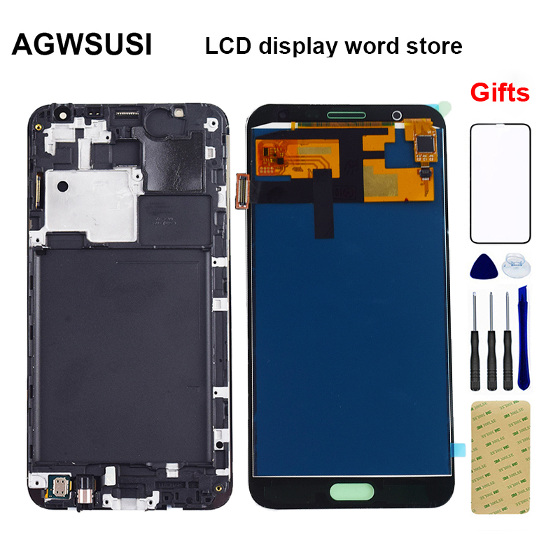 For <font><b>Samsung</b></font> Galaxy J7 2015 LCD Screen j700 <font><b>SM</b></font> J700F J700M <font><b>J700H</b></font> J700FN DS LCD Display Touch Screen Digitizer Assembly Frame image