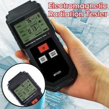 Dosimetro di Radiazione elettromagnetica Digitale Palmare LCD Misura Rivelatore Contatore Geiger di Bloccaggio Suono MT525 Luce 9V EMF
