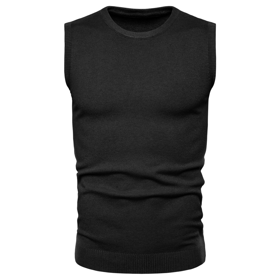 Men's Cotton Sweater Vest Solid Color Cashmere Perfect Quality Brand V-neck Sleeveless Fashion Clothes Knitted Casual Male Coats