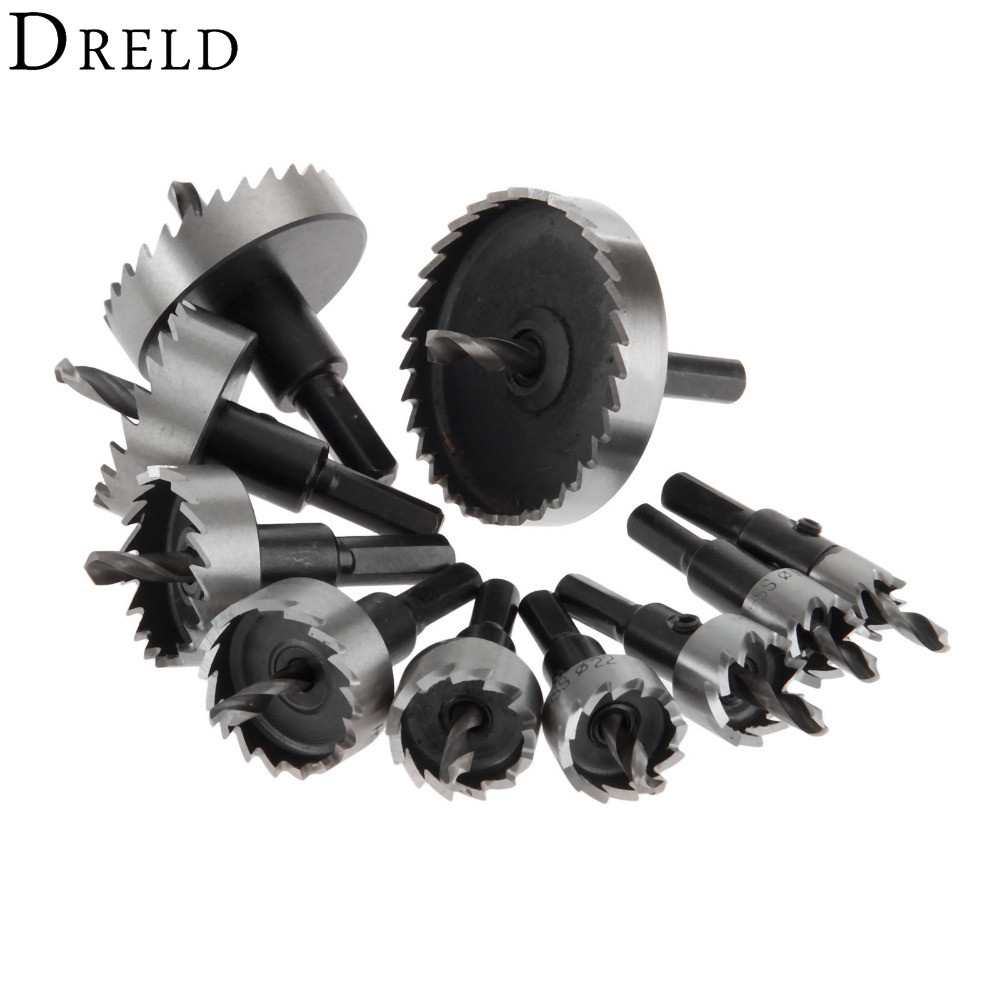 DRELD 1Pc 12-35mm HSS Hole Saw Drill Bit High Speed Steel Holesaw Metal Cutter Drilling Power Tool Herramientas Para Carpinteria