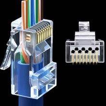 RJ45 Stecker Cat6 Cat6A Jack UTP Gold Überzogene Pass Durch Ethernet Kabel Netzwerk RJ-45 Stecker Cat5 Cat5e STP Geschirmt