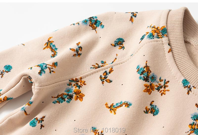 H4ea2db5cfa974cec9eb40a8c56ab912bR Brand 100% Terry Cotton Sweater Children t shirt Blouse 2020 Baby Girl Clothes Kids Hoodies Girls s Fleeces Sweatshirt Flower