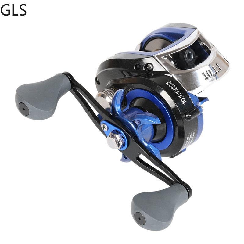 GLS High Speed 10:1:1 Left/Right Hand Baitcasting Fishing Reel 19+1BB 10KG Drag With Magnetic Brake Carp Carretilha Pesca