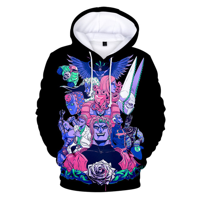 Japanese Manga JOJO 3D Hoodies Men/Women Anime JOJO's Bizarre Adventure Hoodie Sweatshirt Fashion Harajuku Jacket Coat Clothes 4