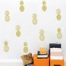 4 style  Pineapple Wall Decal Home Tropical Decor Unique Gold For Kids Nursery Room Cute Sticker Mural