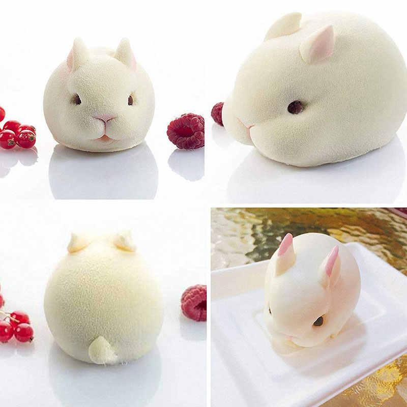 3D Easter Bunny ซิลิโคนแม่พิมพ์เค้กกระต่าย Fondant Mousse แม่พิมพ์ขนมฝรั่งเศสเบเกอรี่ Cupcake Pastry แม่พิมพ์ช็อกโกแลต