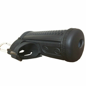 Image 4 - Bike Mounted Protective Practical Outdoor With Strap Portable Pillar shaped Speaker Case Hollowed Out Storage  Flip1 2 3