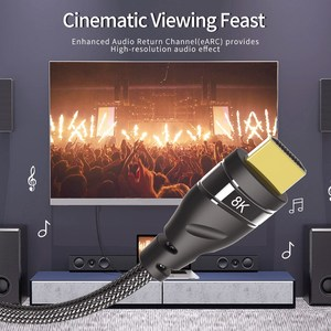 Image 3 - Hdmi 2.1 Kabel Koper 30AWG 4K @ 120Hz Hdmi 2.1 High Speed 8K @ 60 Hz Uhd hdr 48Gbps Kabel Hdmi Converter Voor PS4 Hdtv Projectoren