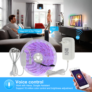 Image 3 - Tuya Smart Control WiFi RGB LED Strip Light Smart Life APP Compatible with Amazon Alexa and Google Home Control by Voice.