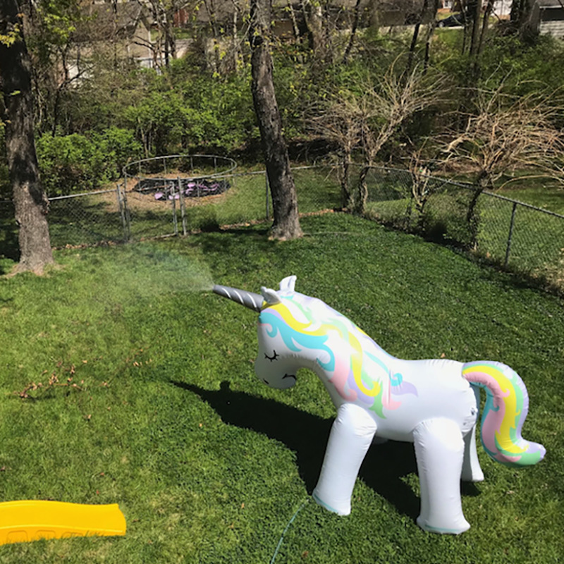 Image 5 - outdoor giant inflatable unicorn sprinkler swimming pool toys for yard lawn wedding photography props for kids adult-in Pool Rafts & Inflatable Ride-ons from Toys & Hobbies
