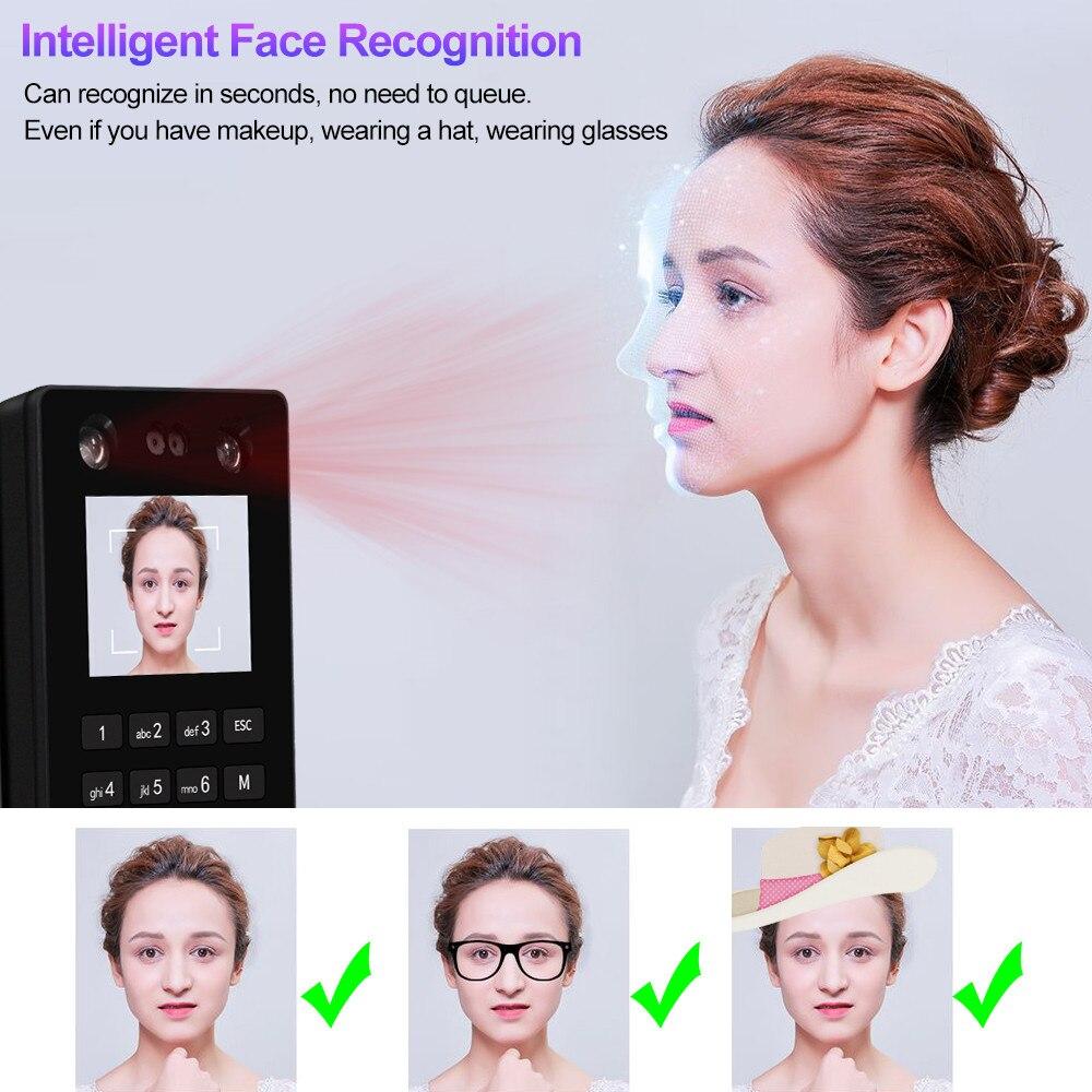 Sistema de teclado de Control de acceso Facial biométrico RFID máquina de asistencia de huella digital compatible con contraseña Facial tcp/red IP USB - 3