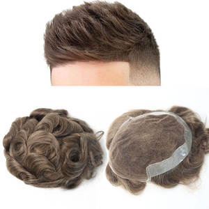 Venvee Hair-Toupee Human-Hair for Men 100%European Pu-Replacement-System 17 -Color Natural-Looking