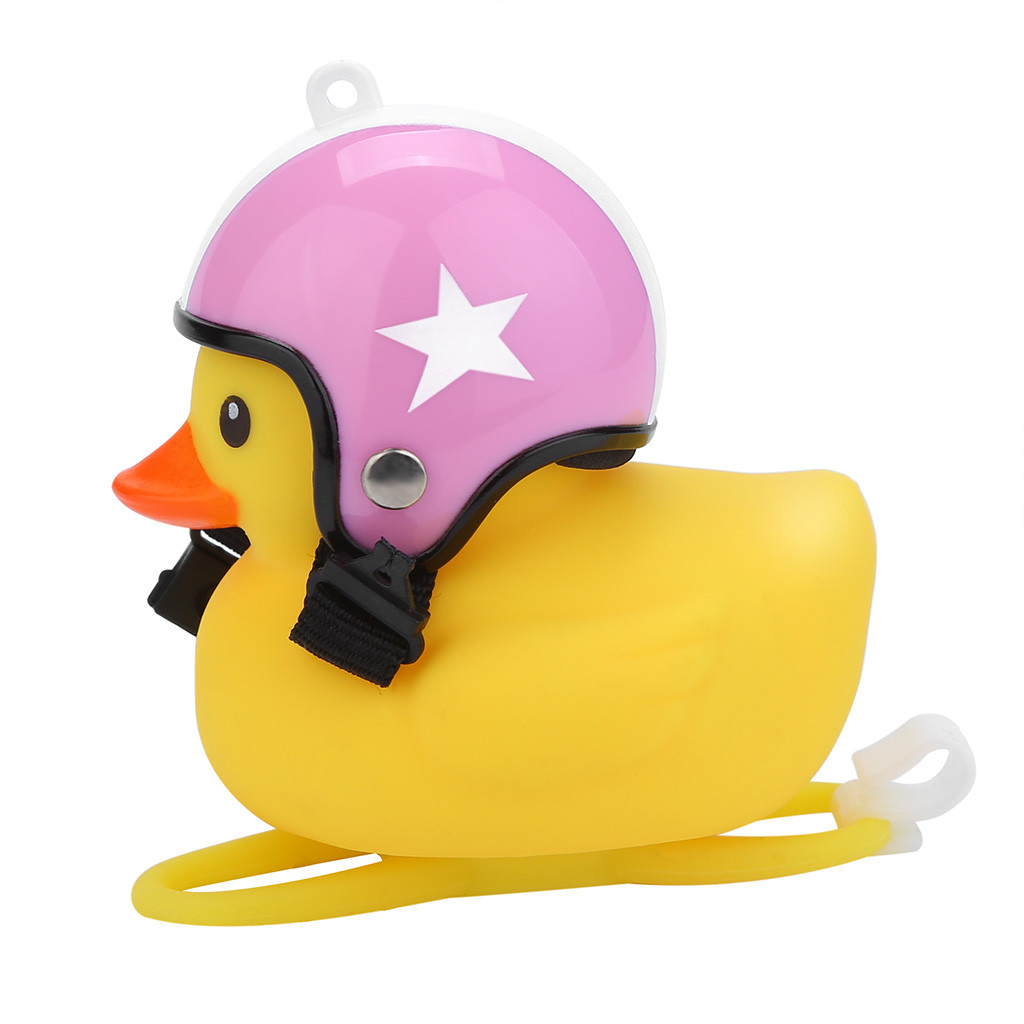 Bicycle Bell With Wind Small Yellow Duck Bike Helmet Riding Cycling AccessoriesY