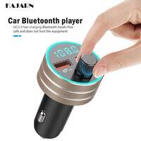 fm משדר נגני MP3 KAJARN רכב משדר FM VR רובוט FM אפנן Bluetooth 5.0 USB כפול דיבורית לרכב מתאם אלחוטי Charge (1)