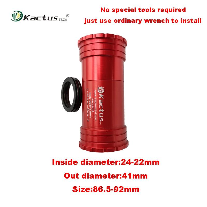 KACTUS PF4124(22)LS CERAMIC Press Fit Bottom Bracket 86.5-92mm BB for Shimano SRAM GXP Rotor 3D24 Aldhu24 24mm Crankset Chainset