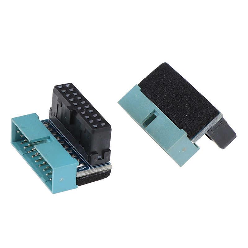 1 Adaptador de extensión de macho a hembra USB 3,0 de 20 pines ángulo arriba abajo 90 grados para placa base de placa base