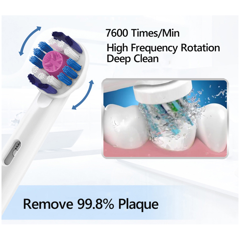 Oral B Vitality Rotation Electric Toothbrush Rechargeable Smart Teeth Brush Precision Clean 2 Minutes Timer Replace Brush Heads