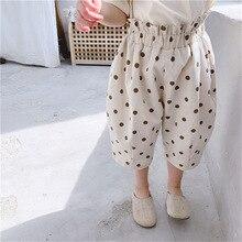 2020 Girl Summer Sweet Dot Pant Kids Children 3/4 Length Trousers