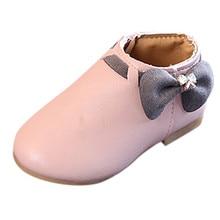 SAGACE/осенне-зимняя кожаная обувь; детская повседневная обувь; детская обувь для девочек; обувь принцессы с бантом; зимняя кожаная обувь для малышей