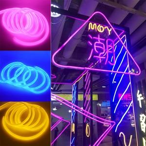 Image 5 - 360 עגול ניאון Led אור רצועת 220V 120LED 2835 צינור גמיש חבל אורות חג עמיד למים עיצוב הבית 1m 10m 20m 50m 100m