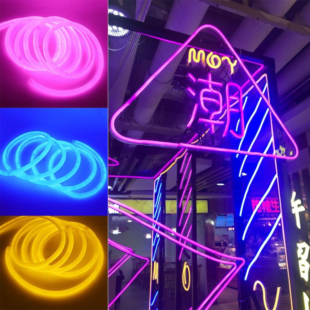 360 Round Led Neon Tube AC 220V 230V 240V SMD 2835 Flexible Neon Strip For Outdoor 360 Round Led Neon Tube AC 220V 230V 240V SMD 2835 Flexible Neon Strip For Outdoor Decorative Lighting 1m 2m 5m 10m 20m 50m 100m