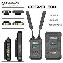 Беспроводной передатчик HOLLYLAND COSMO 600, профессиональный HD видеопередатчик с отверстием для винтов 1/4  20, 3G, SDI, HDMI, 600FT
