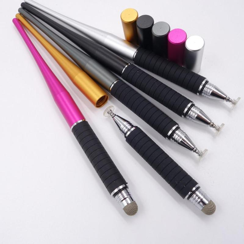 High Quality 2 In 1 Capacitive Pen Touch Screen Drawing Pen Painting Writing Stylus Assistant Tools For IPhone IPad Tablet PC