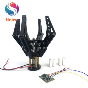 Acrylic Mechanical Claw 3D Printing N20 Motor Clamp 6V 300rpm Robotic Gripper for Arduino DIY Robot Arm Manipulator Kit