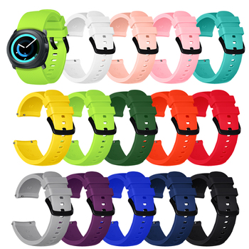 20MM Sport Silicone Wristband Watch Strap For Samsung Galaxy Watch 3 41mm Gear S2 Galaxy Watch 42mm Smart Watch Band Bracelet 20mm strap for samsung galaxy watch active galaxy watch 42mm gear s2 band stainless steel replacement crystal women wristband