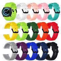 Cinturino sportivo in Silicone morbido da 20MM nuovi cinturini per Samsung Galaxy Watch 3 41mm Gear S2 Galaxy Watch 42mm Smartwatch Band Bracelet