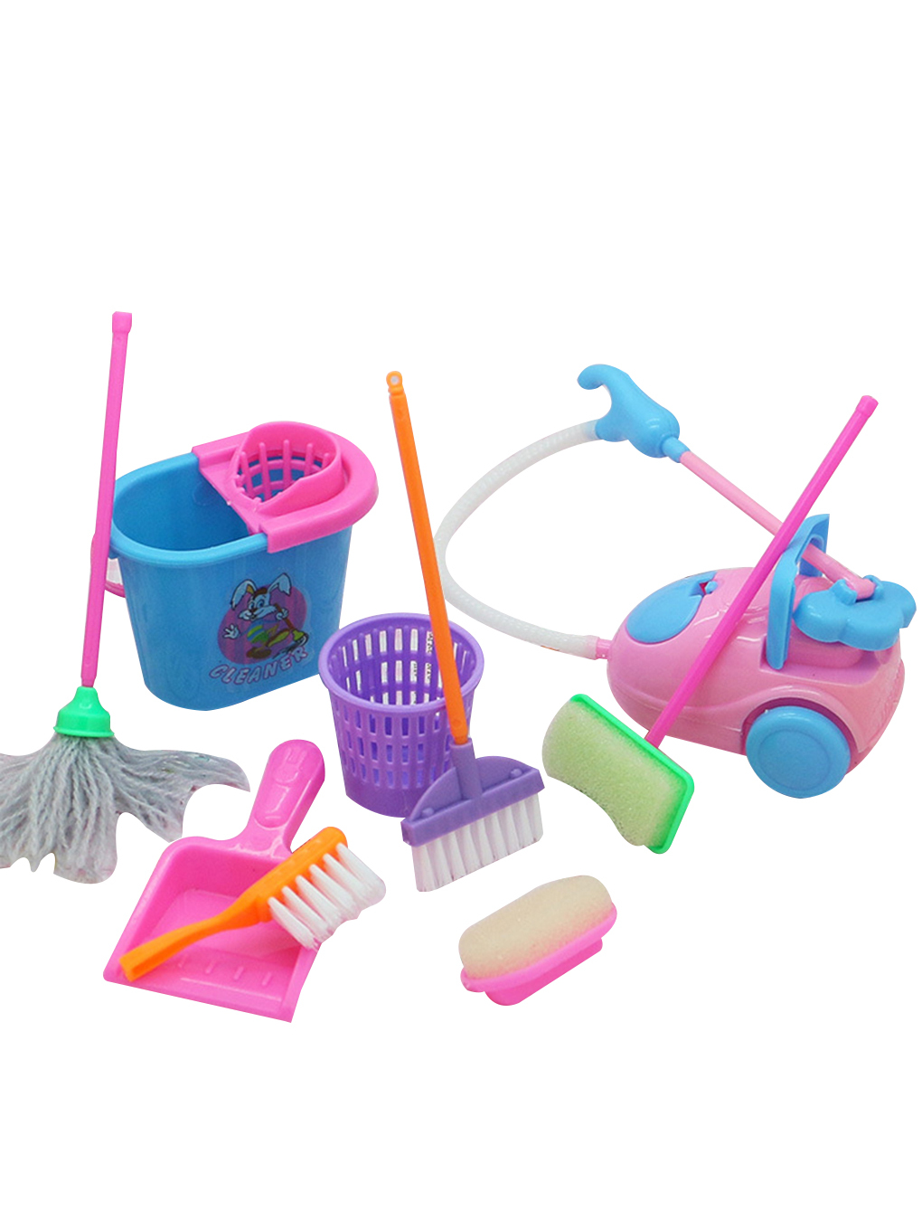 Doll-Accessories Dollhouse Cleaning-Tools Educational-Toy Kids Mini for High-Quality