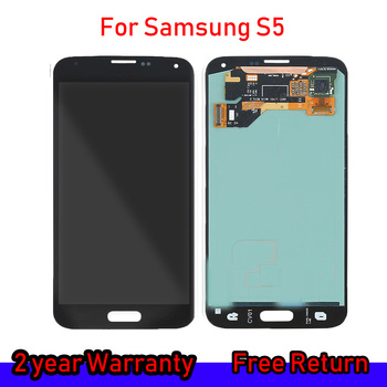 Original Super AMOLED GALAXY S5 LCD For SAMSUNG GALAXY S5 G900F LCD Screen Display Touch Digitizer Assembly Replacement