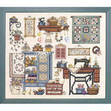 Top Quality Beautiful Lovely Counted Cross Stitch Kit Sew Cozy Sewing Room Machine dim 72378