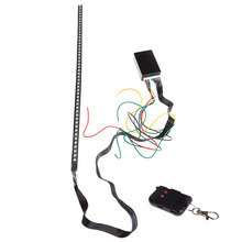 Car Lights 56cm 48 LED 5050 Flash Car Strobe Remote Knight Rider Strip Light RGB