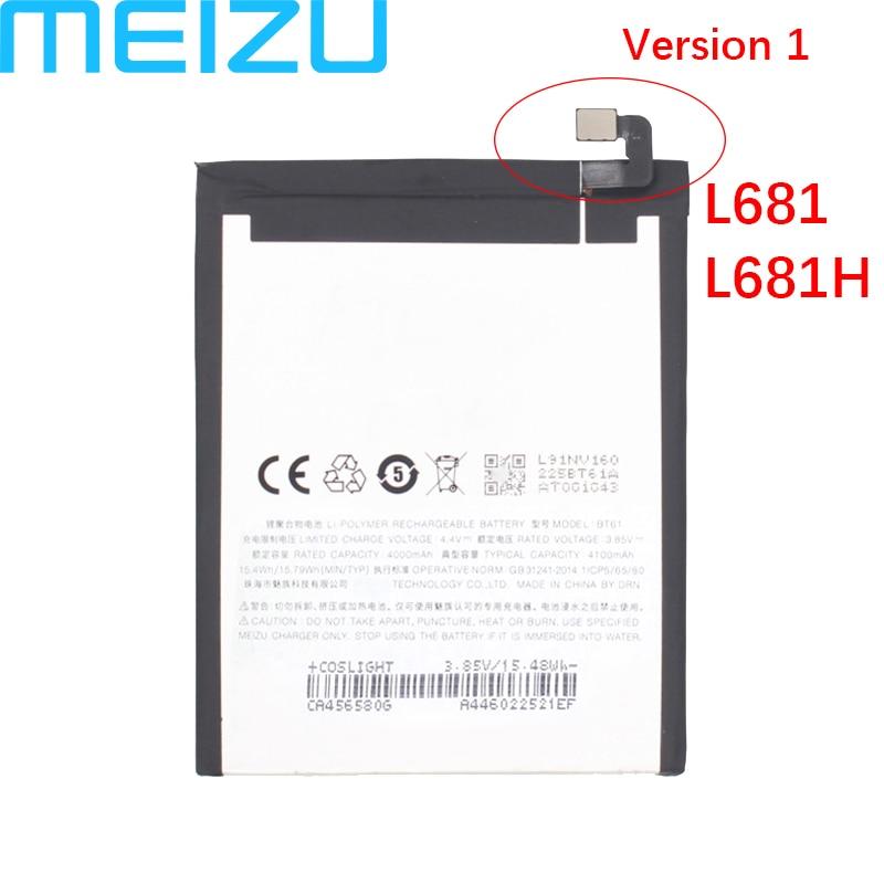 Meizu 100% Original 4000mAh BT61 Battery For Meizu M3 Note L681 L681H M681 M681H Phone Latest Production Battery+Tracking Number