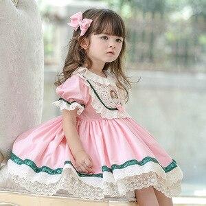 Enfants Boutique robes espagnoles pour filles dentelle coton bébé robes infantile robe de baptême enfant en bas âge robe de fête d'anniversaire Vestido