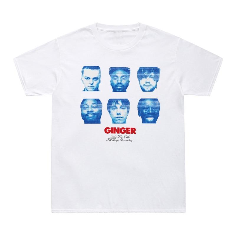 GINGER   T     Shirt   Men All-American Boyband Brockhampton   T  -  Shirts   Cotton Tee   Shirt   Take The Odd I'Ll Keep Dreaming Letter Print Tees