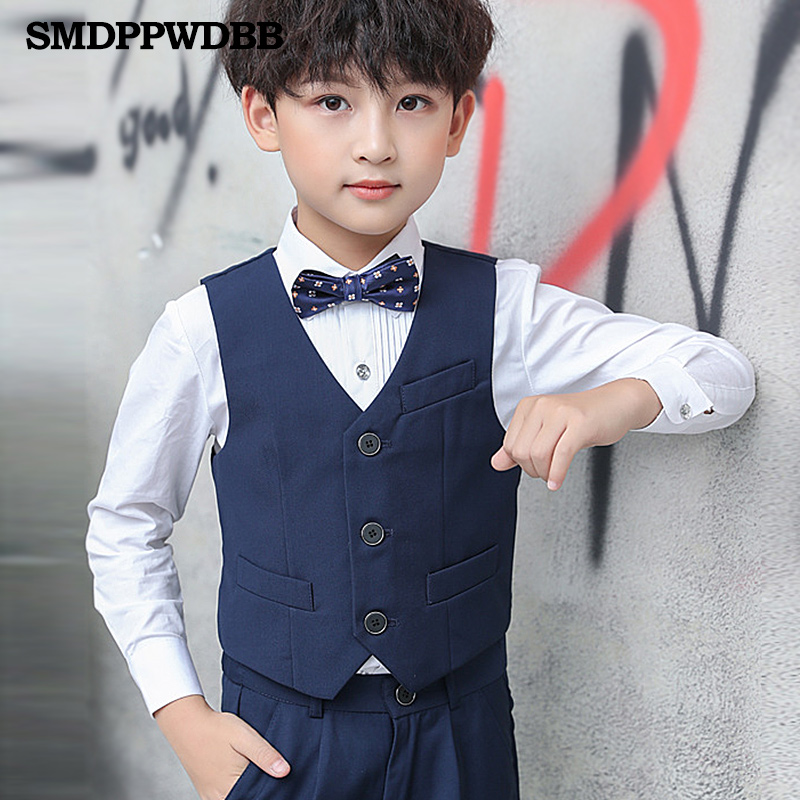 SMDPPWDBB Vest Waistcoat Performance England-Style Wedding Prince Boys Kids Birthday