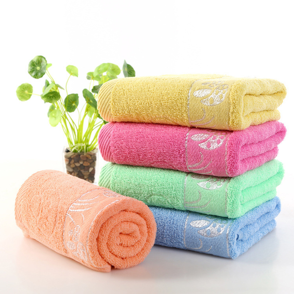New Arrived Hand Hair Towel Bowknot Quick-drying Beach Bath Towel Cotton Face Cloth Soft Absorbent Bath Washcloth