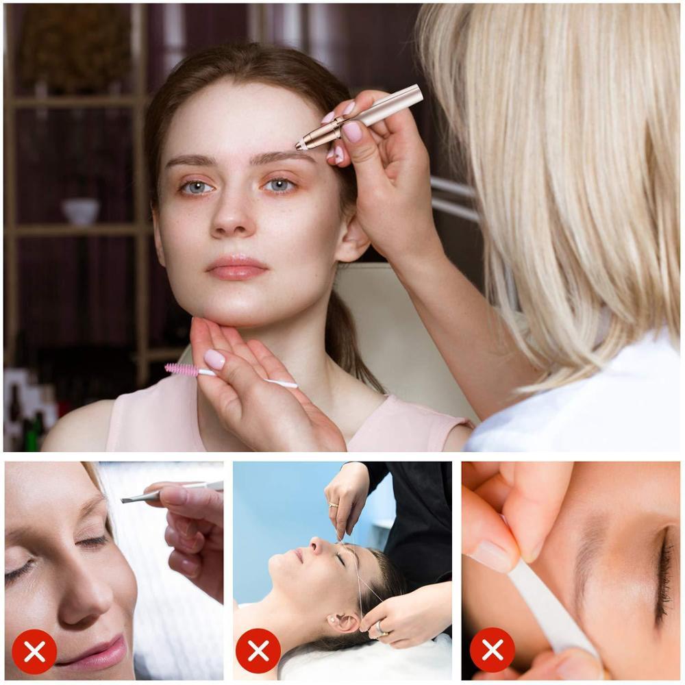 Eyebrow Trimmer Shaving Machines Hair Removal Woman Electric Eyebrow Epilator Makeup Tool Hair Trimmer Women Makeup Femme 5