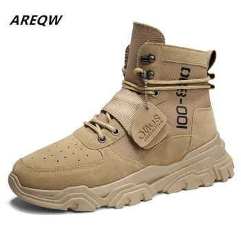 Sports Shoes British Wind with Flat Bottom Skid Autumn and Winter Martin Boots