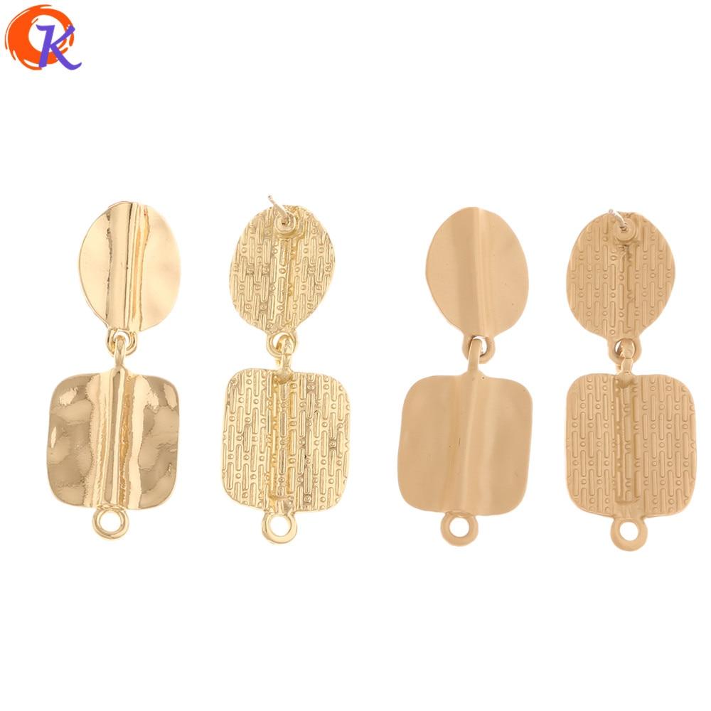 Cordial Design 50Pcs 15*39MM Jewelry Accessories/Hand Made/Earrings Stud/Geometry Shape/Earring Findings/DIY Jewlry Making