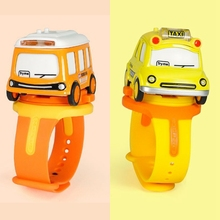 Kids Watch Toy Mini Alloy Bus Pull Back Car Watch Toy Baby