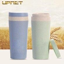 1 шт. портативная ручная чашка Пшеничная солома чашка для воды двухслойная Cola кофейная пластиковая кружка для поездок Питьевая чашка подарки для дома и офиса
