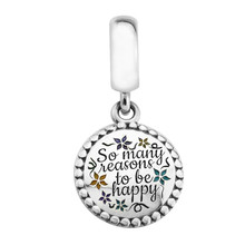 Happy Seasons Pendant 925 Sterling Silver Charms for Women Bracelets DIY Jewelry Mixed Color Enamel Charms for Jewelry Making