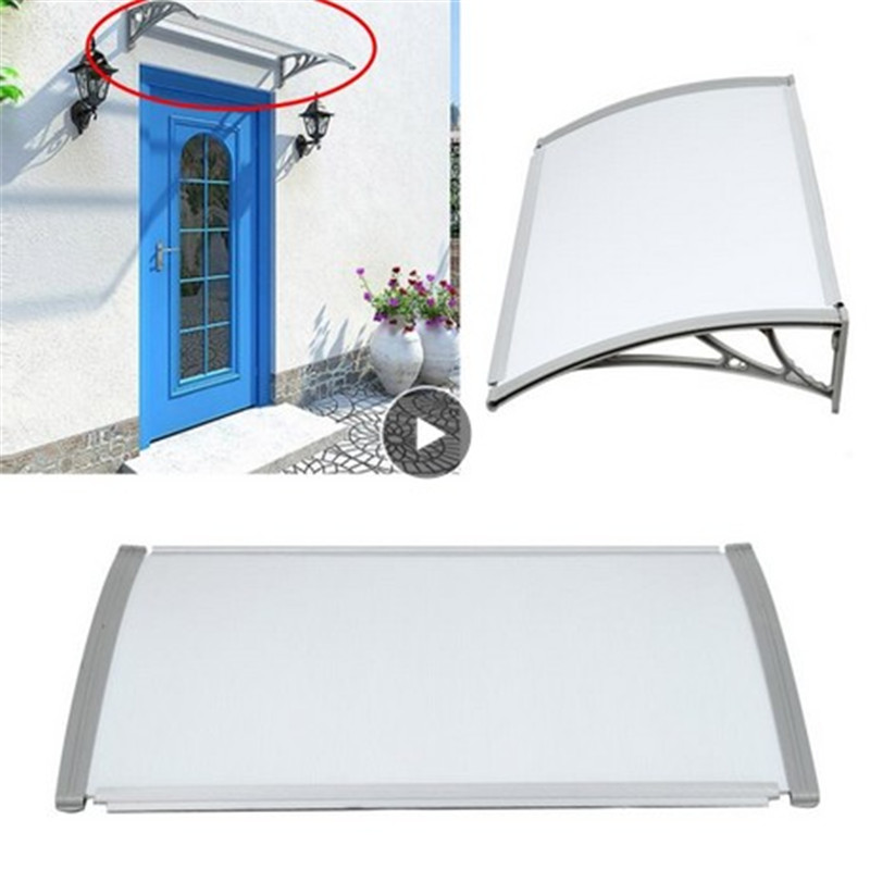 Tent Awning Window Canopy Rain Shelter Roof Sun Shade Door Furniture Top Quality Patio Cover Front Celldeal Shade Cover 1X3M HWC image