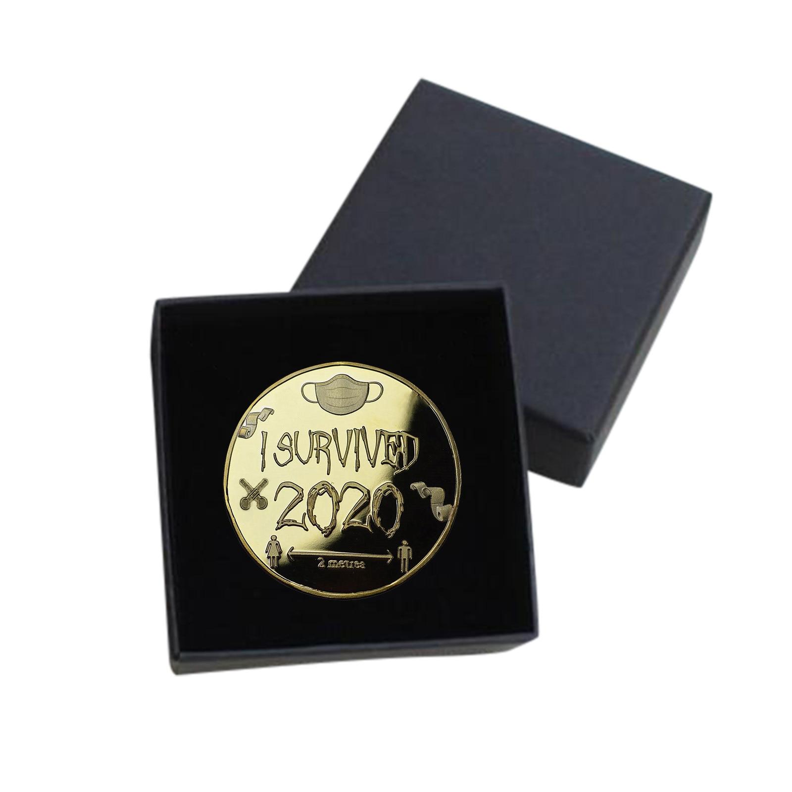 1/3/5 шт. монета я пережила 2020 памятная монета воспоминания о былом подарок особый сувенир бык символ года 2021
